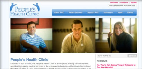 web design for Peoples Health Clinic Park City Utah